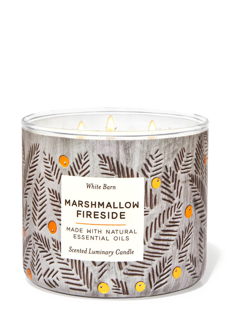Chandelle à 3mèches Marshmallow Fireside Image 1