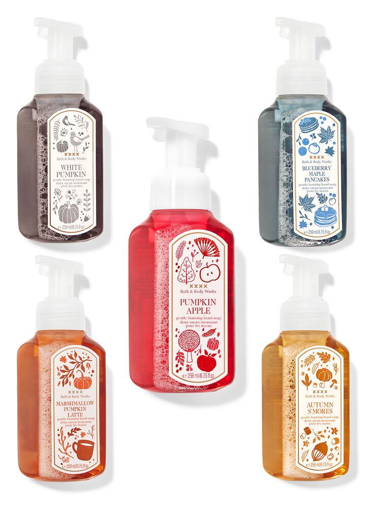 Paquet de 5 doux savons moussants pour les mains Délices d'automne