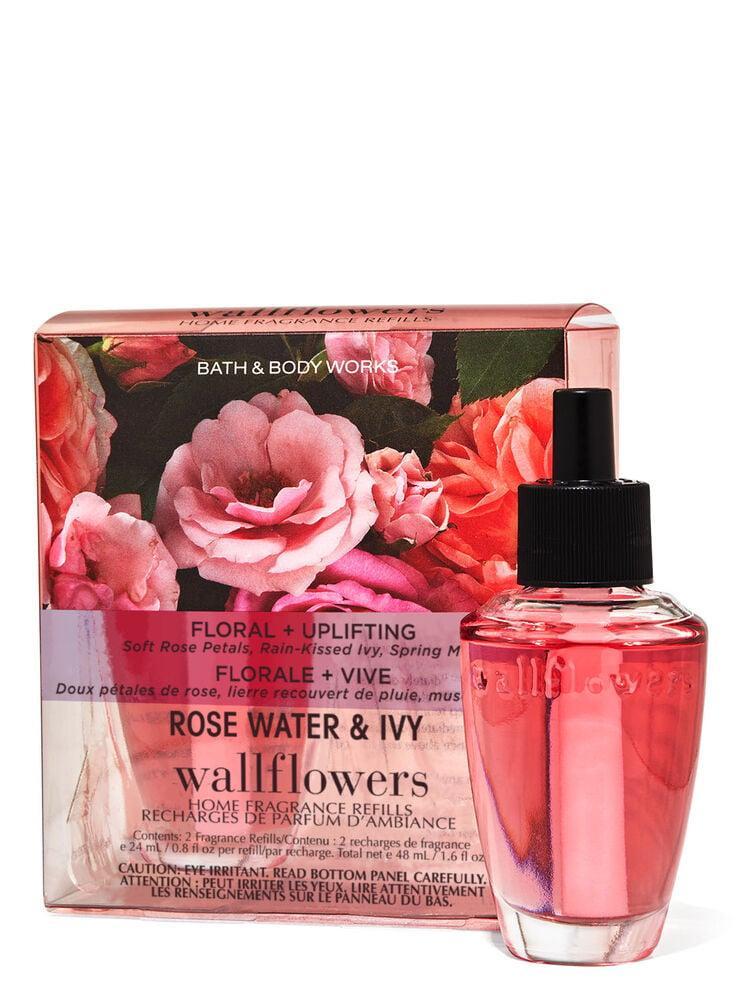 Paquet de 2 recharges de fragrance Wallflowers Rose Water & Ivy