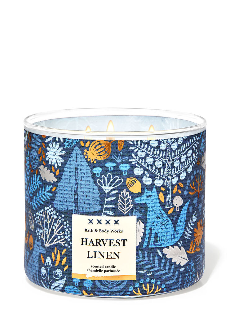 Harvest Linen 3-Wick Candle