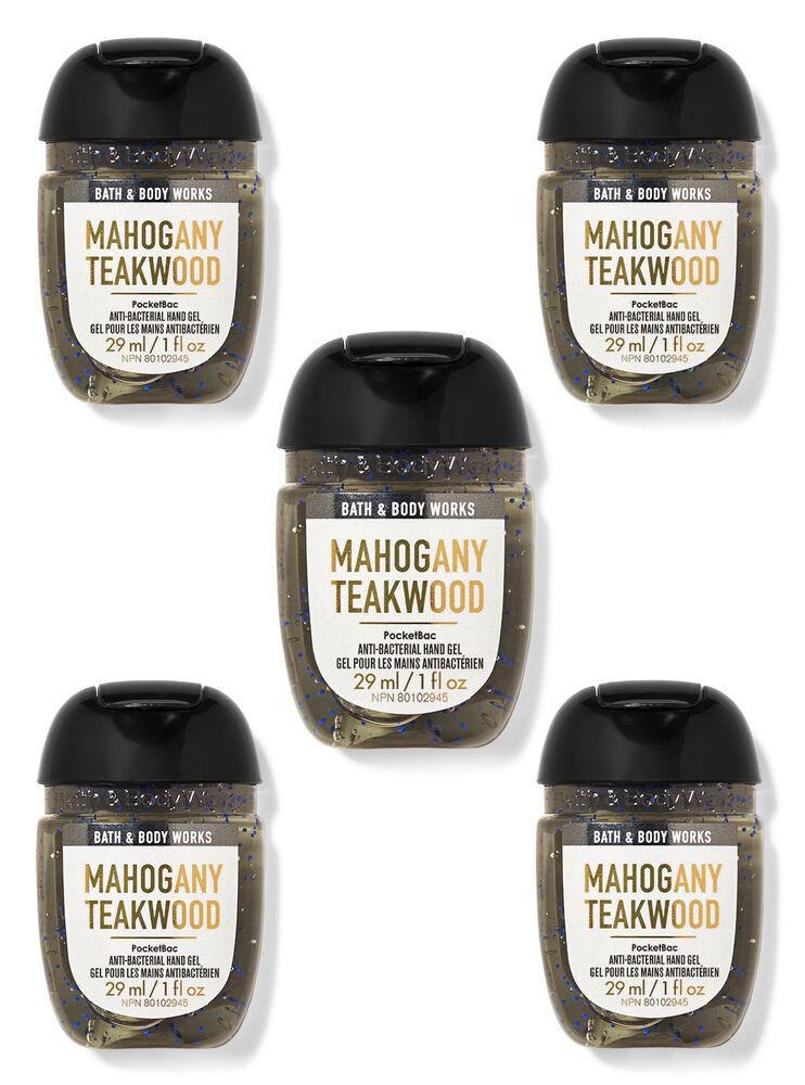 Paquet de 5 désinfectants pour les mains PocketBac Mahogany Teakwood