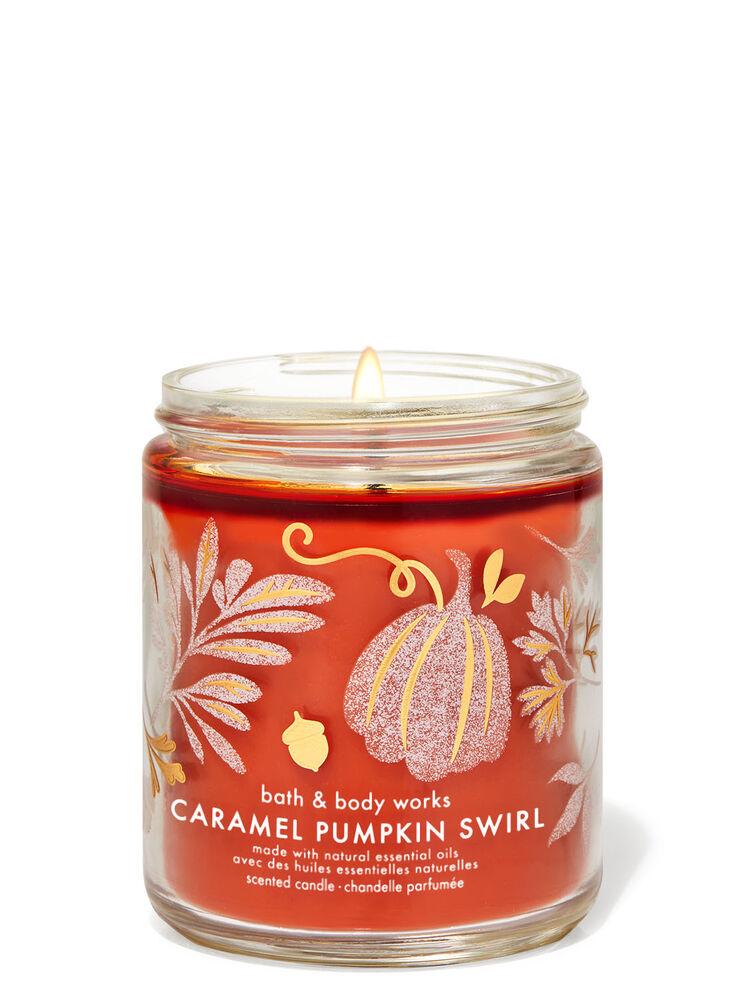Chandelle à une mèche Caramel Pumpkin Swirl