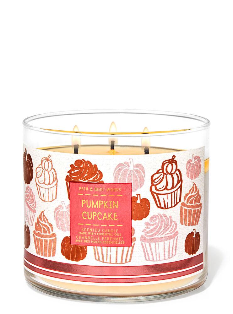 Chandelle à 3 mèches Pumpkin Cupcake