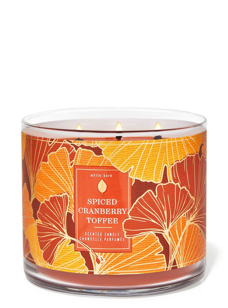 Spiced Cranberry Toffee 3-Wick Candle
