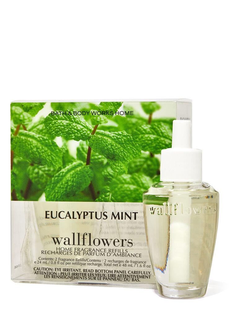 Paquet de 2 recharges de fragrance Wallflowers Eucalyptus Mint