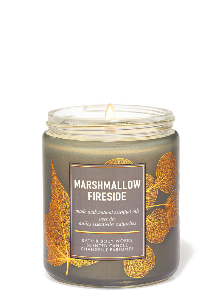 Chandelle à une mèche Marshmallow Fireside