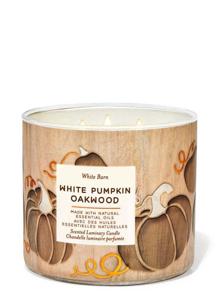 Chandelle à 3mèches White Pumpkin Oakwood Image 1