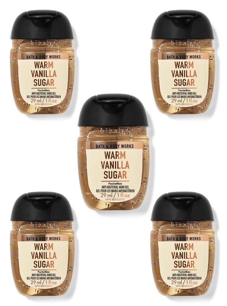 Paquet de 5 désinfectants pour les mains PocketBac Warm Vanilla Sugar