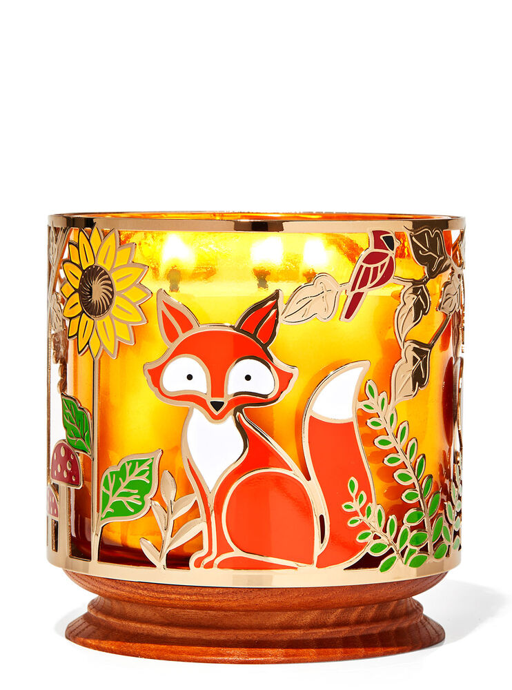 Woodland Critters 3-Wick Candle Holder Image 1
