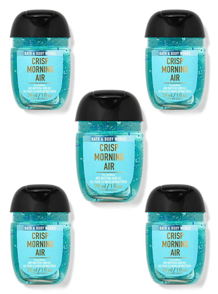 Crisp Morning Air PocketBac Hand Sanitizers, 5-Pack