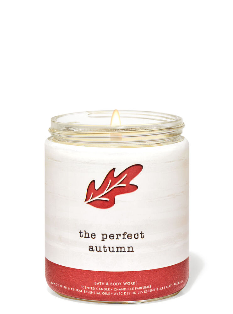 The Perfect Autumn Single Wick Candle