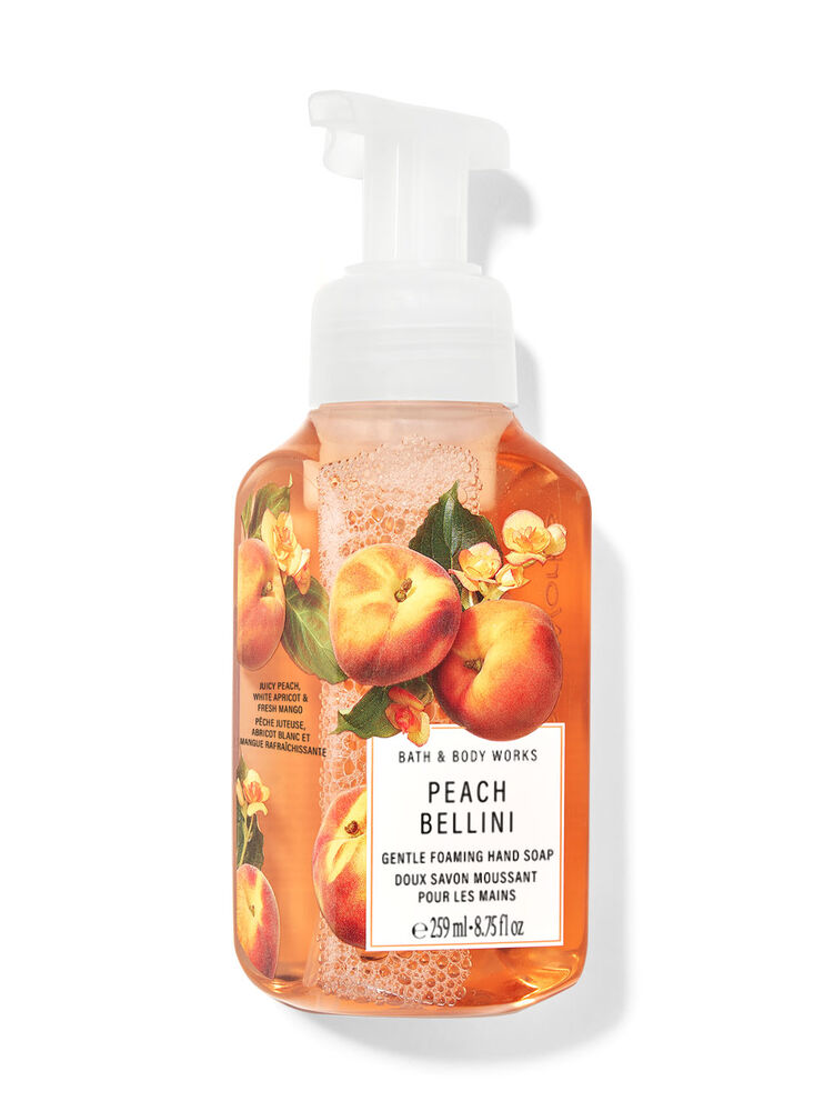 Doux savon moussant pour les mains Peach Bellini