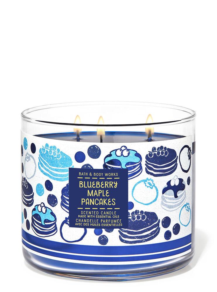 Chandelle à 3mèches Blueberry Maple Pancakes