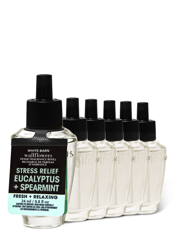 Paquet de 6 recharges de fragrance Wallflowers Eucalyptus Spearmint Image 1