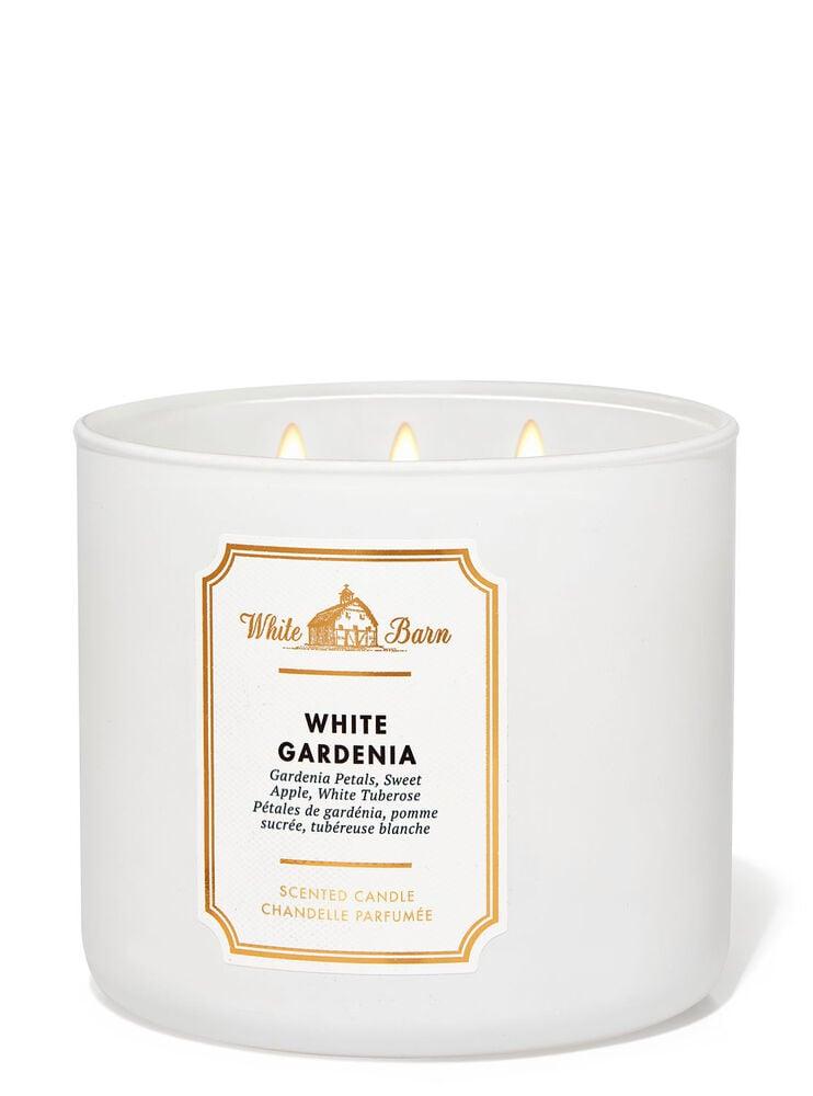Chandelle à 3mèches White Gardenia