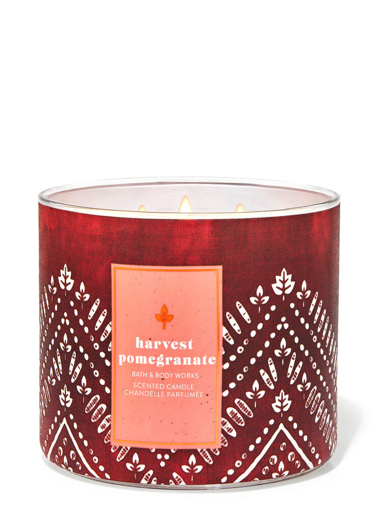 Harvest Pomegranate 3-Wick Candle
