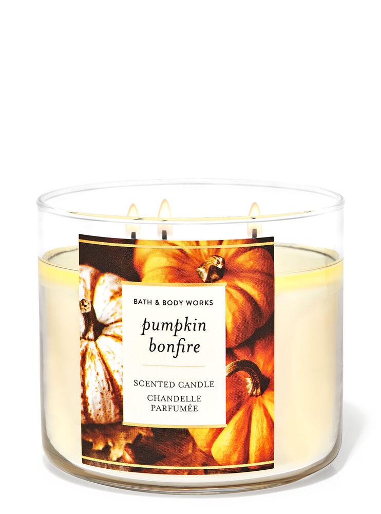 Chandelle à 3mèches Pumpkin Bonfire