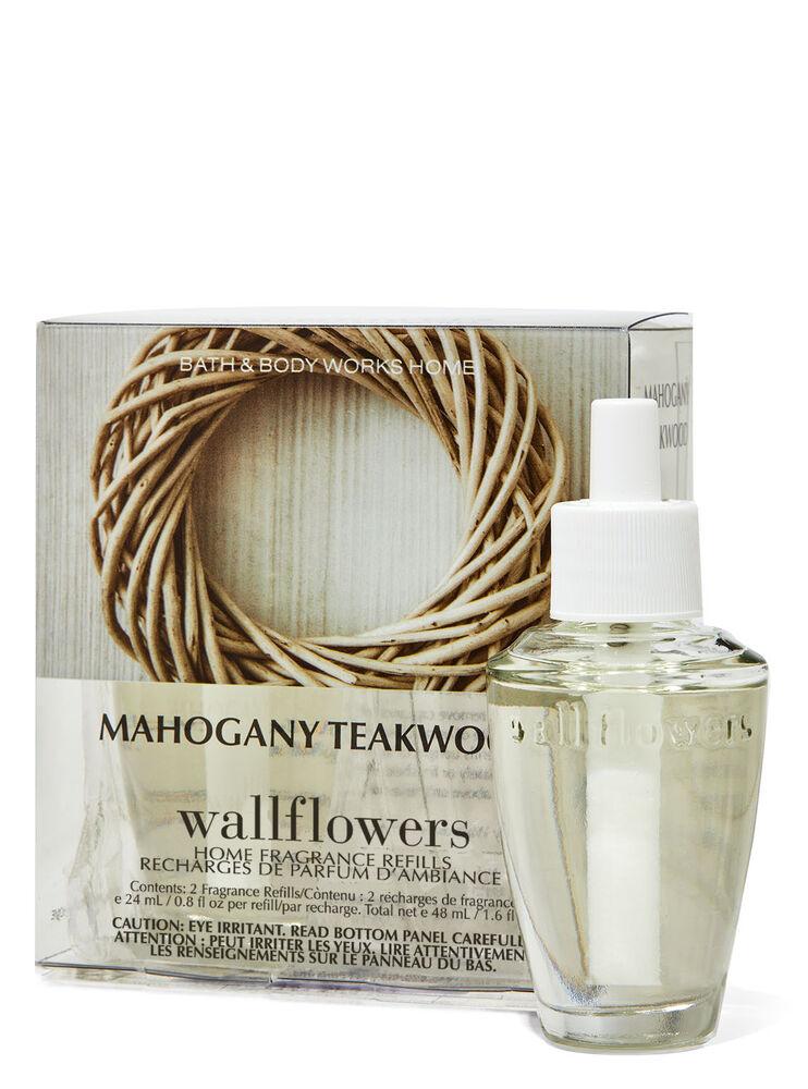 Paquet de 2 recharges de fragrance Wallflowers Mahogany Teakwood